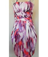 Max & Cleo DRESS cocktail STRAPLESS PURPLE lila... - $70.06