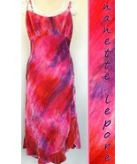 NANETTE LEPORE sun DRESS hot PINK purple RED ar... - $200.06