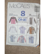 McCall's 7958 Medium 12-14 Misses-8 Blouses Sle... - $5.45