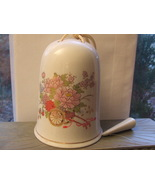 Ceramic Hanging Bell with Fall Flowers 5 in.Fro... - $8.00