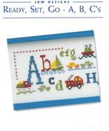 Ready Set Go ABC's cross stitch chart JBW Designs - $12.60