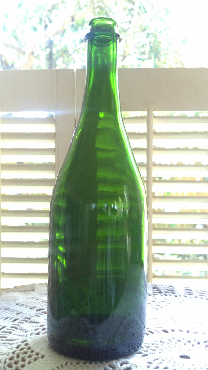 recycled empty wine bottles for crafts slumping painting