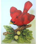 Vintage Lefton Cardinal Bird Figurine Porcelain... - $44.54