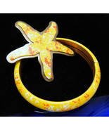 Summer Fun Vintage Enamel Brooch Bangle Bracele... - $59.39