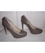 Michael Kors Hamilton Taupe Leather Heels Platf... - $149.99