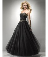 Sexy Strapless Black or Pink Beaded Prom Pagean... - $328.99