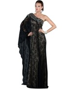 Sexy One Shoulder Grecian MOB Prom Black or Ivo... - $299.99