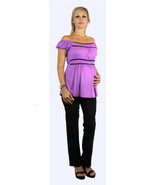 Sweet Sexy Lilac/Black Princess Peasant Top/Bla... - $34.99