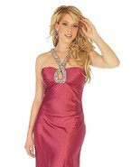 Sophisticated Sexy Embellished Halter Berry Pro... - $199.99