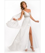 Sexy One Shoulder Silk Pageant Prom Evening Gow... - $634.99