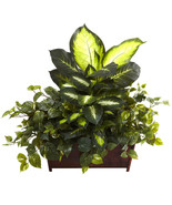 Silk Green Golden Dieffenbachia, Philo & Pothos... - $131.66