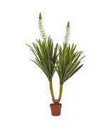 "57"" Green White Flowering Yucca Plant, Nearly N... - $109.03"
