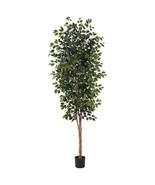8' Green Silk  Ficus Tree w/1512 Leaves by Near... - $151.46