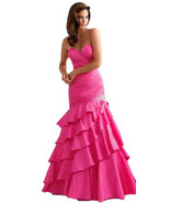 Sexy Strapless Fuchsia Pink Mermaid Prom Pagean... - $329.99