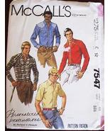 1980's Men's WESTERN ROCKABILLY SHIRT Pattern 7... - $10.99