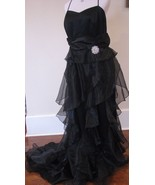 Sizes 12,14,16 or 18 Gorgeous Black Ruffle Form... - $79.99