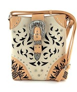 Western Buckle Lazer Cut Messenger Bag Cross Bo... - $35.27