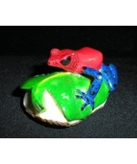 SALE BRAND NEW Blue Jeans Frog Hand Carved from... - $60.00