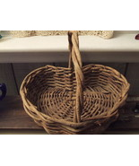 Handwoven Twig Basket Heartshaped 11 by 8 by 2 ... - $8.95