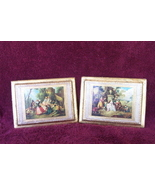 Victorian Picture Set Italy Vintage - $5.97
