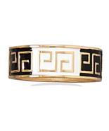 Black and White Enamel Greek Key Design Hinged ... - $12.97