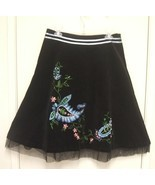 NEW BASIL &amp; MAUDE Paisley Velvet SKIRT 6