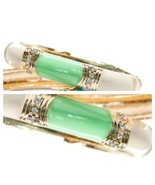 New - Mint-Ivory with Rhinestones Enamel Bangle - $15.00