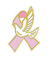 Breast Cancer Awareness Lapel Pin Pink Ribbon W... - $7.97