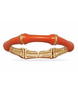 Orange Bamboo Fashion Stretch Bangle Bracelet, ... - $20.97