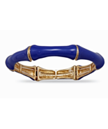 Bright Summer Blue Bamboo Fashion Stretch Bangl... - $18.87