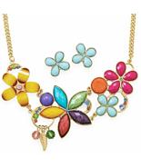 COLOR GALORE! Multicolor Flower Fashion Necklac... - $23.71