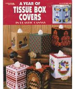 A Year of Tissue Box Covers Plastic Canvas Patt... - $4.99