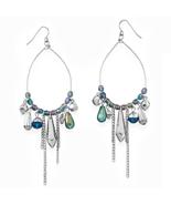 Silver TonePear Pear Shape Drop Fashion Earring... - $17.49