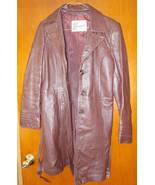 Berman's Genuine Leather Jacket Coat W/Tie Thre... - $38.61