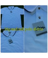 Mens White polo shirt short sleeve cotton blend... - $16.28