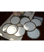 8 Noritake Austin Platinum Fine Porcelain China... - $48.51