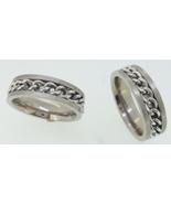 Titanium Ring - chain center - $39.00