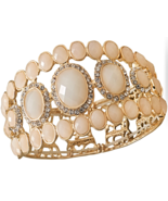 Elegant Ivory Acrylic Stretch Fashion Bracelet ... - $17.48