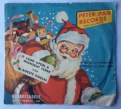It Came Upon a Midnight Clear Kid's Record Santa & Toys Cover Art Adeste Fideles