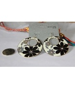 Round Large Metal Disk with White, Grey and Bla... - $5.00