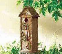 Scrapbook Birdhouse Resin Brown