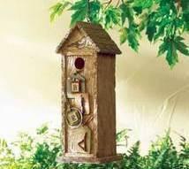 Image 3 of Scrapbook Birdhouse Resin Brown