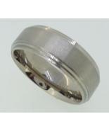 Titanium Ring  - brushed  center - $24.00
