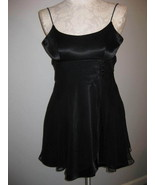 Zum Zum Black Satin And Chiffon Mini Dress Size... - $23.00
