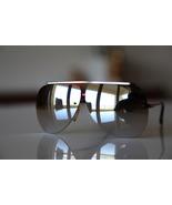 Vintage Aviator Sunglasses Metallic Red Rimless... - $16.00