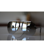 Vintage Aviator Sunglasses Black Rimless/ Chrom... - $16.00