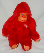 Red Valentine's Day Thumb Sucker Monkey Plush S... - $19.98
