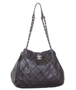 RARE Chanel Chocolate Brown Quilted Leather Exp... - $2,474.01