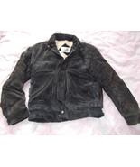 Vtg Windbreaker Mens Black Leather Suede Flight... - $59.35