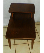 Mid Century Walnut Step End Table / Side Table ... - $299.00